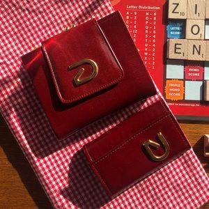 Vintage Buxton Wallet & Keytainer Set